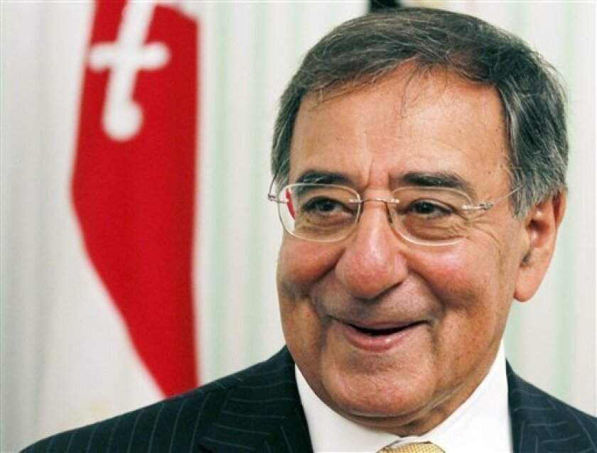 US Secretary of Defense Leon Panetta, looks on during his meeting with Field Marshal Mohamed Tantawi, the head of Egypt's ruling Supreme Council of the Armed Forces (SCAF), at the Defense Ministry in Cairo Tuesday, Oct.4, 2011. (AP Photo/ Mohamed Abd El-Ghany, Pool)