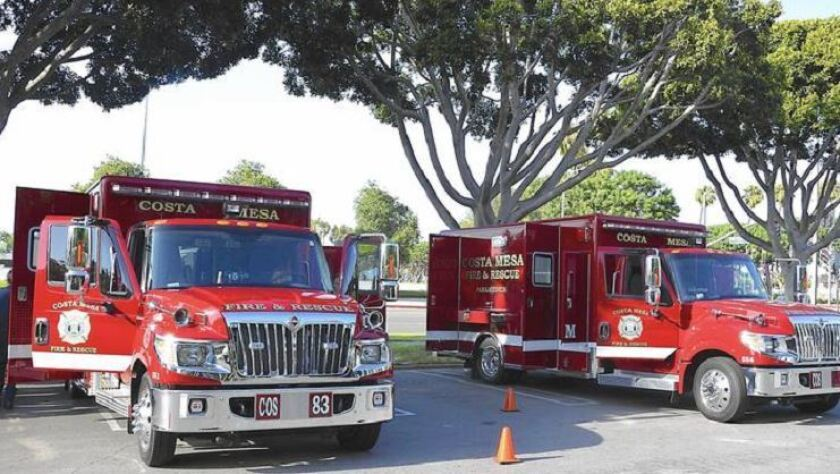 Costa Mesa ambulance fleet