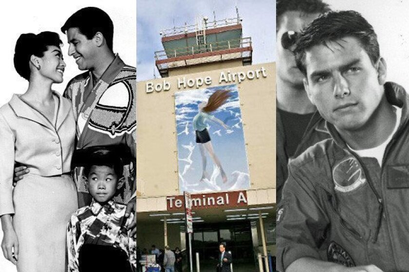 """Scenes from Tom Cruise's 1986 action hit """"Top Gun"""" and the 1958 Jerry Lewis comedy """"The Geisha Boy"""" featured a number of shots of the Bob Hope Airport."""