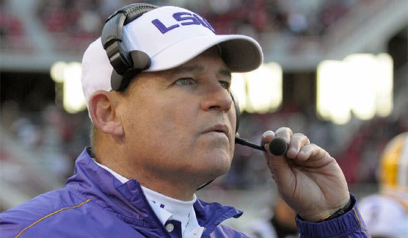 Les Miles has led LSU to an 85-20 record and a national title in his eight seasons as head coach.