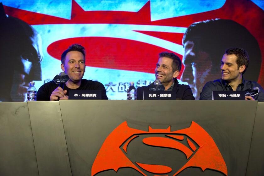 Ben Affleck, Zack Snyder, Henry Cavill