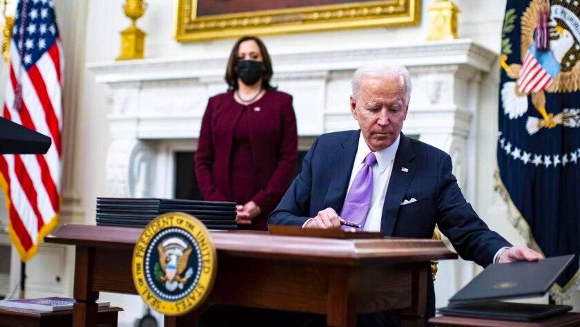 La vicepresidenta de eEUU, Kamala Harris, y el presidente Joe Biden.