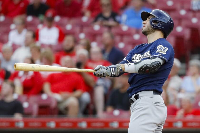 Ryan Braun follows through on a home run swing