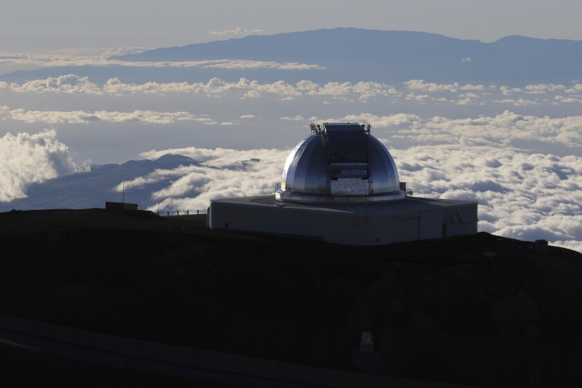 A telescope on the summit of Mauna Kea in Hawaii.