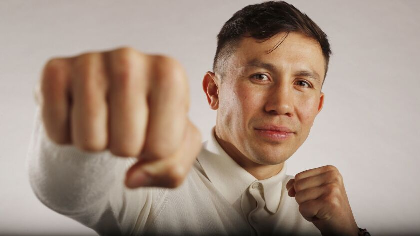LOS ANGELES, CALIF. -- MONDAY, MARCH 11, 2019: Boxer Gennady ?GGG? Golovkin announced he was signing