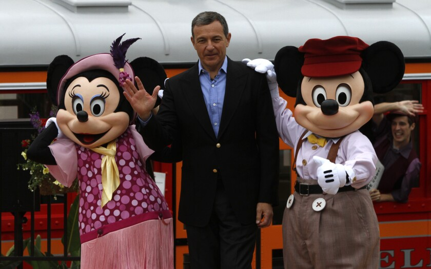Bob Iger, Disney's chairman and chief executive, stepped down as CEO on Tuesday.