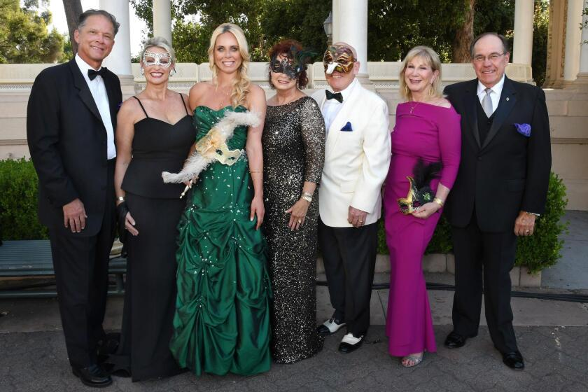 Jon and Merridee Book (she's a gala chair), Stephanie Brown (a gala chair), Clarice and Bill Perkins (she's PoP president), Roxi and Hon. Fred Link (she's a gala chair)
