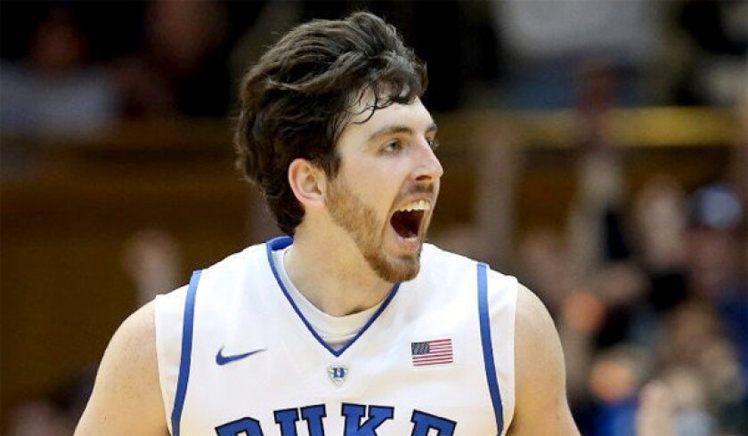 Ryan Kelly, who is 6 feet 11, averaged 12.9 points and 5.3 rebounds for Duke last season.