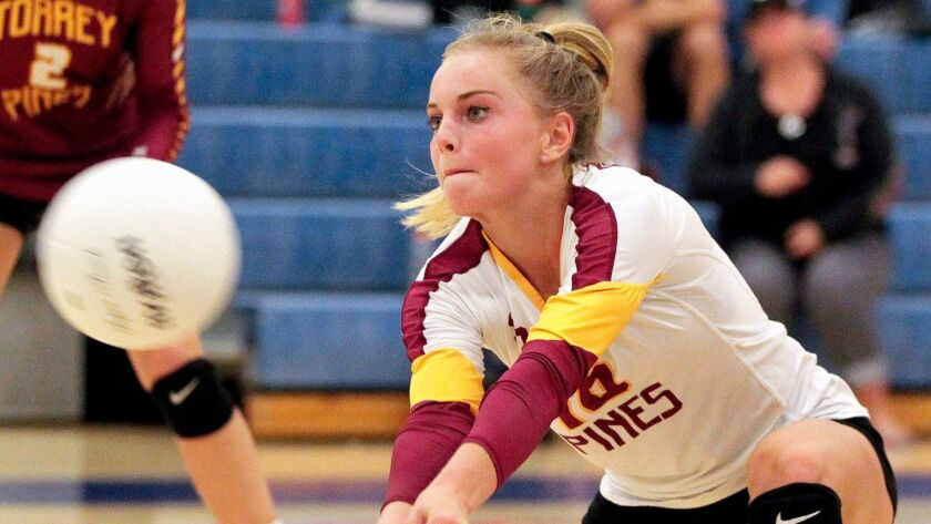 Jaden Whitmarsh plans to play beach volleyball for UCLA, but first she'll help lead Torrey Pines' indoor team this fall.