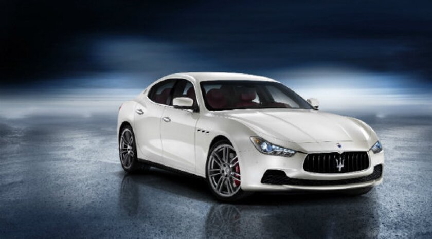 Maserati unveiled the all-new Ghibli at the 2013 Shanghi Auto Show. The car has a 404-horsepower, turbocharged V-6 engine and an eight-speed automatic transmission.