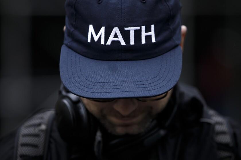 Andrew Yang's MATH hat