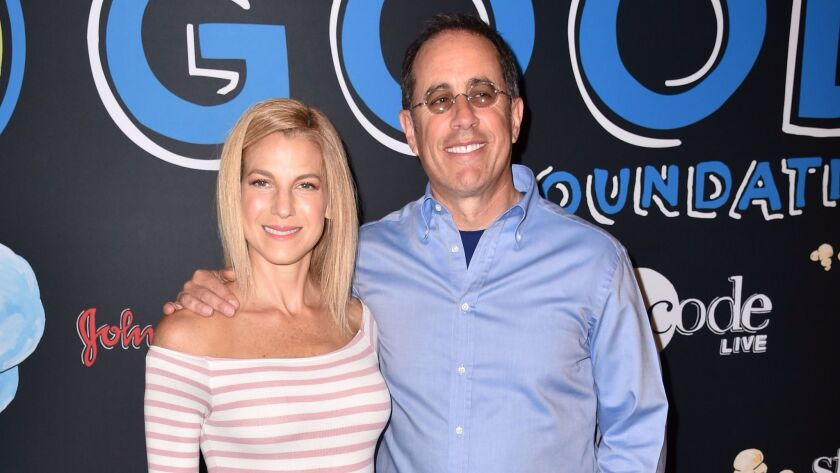 Mandatory Credit: Photo by Stephen Lovekin/REX/Shutterstock (8852135d) Jessica Seinfeld and Jerry S