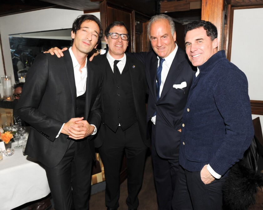 Adrien Brody, David O. Russell, Charles Finch and André Balazs