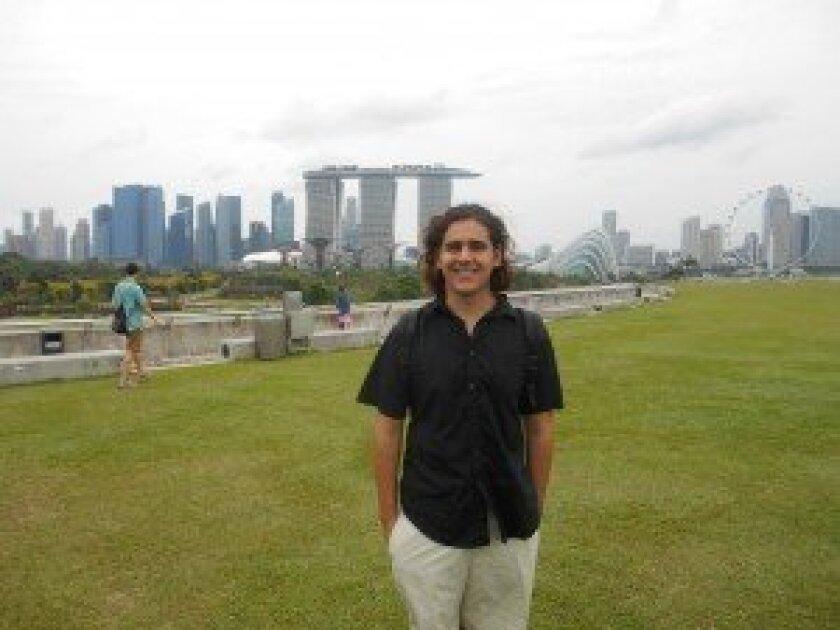 Derek Kiy on the Marina Barrage in Singapore. / Courtesy photo