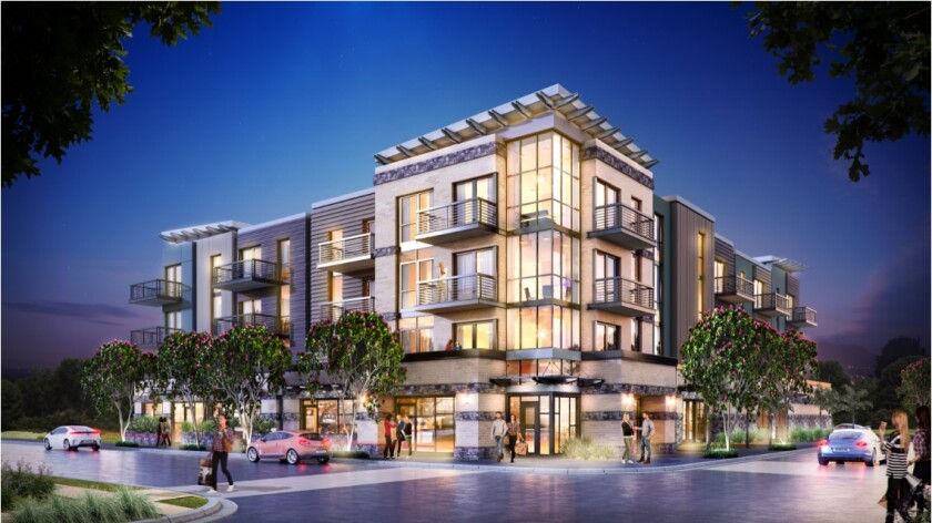 State and Oak in Carlsbad will have 24 apartments and open in 2020.