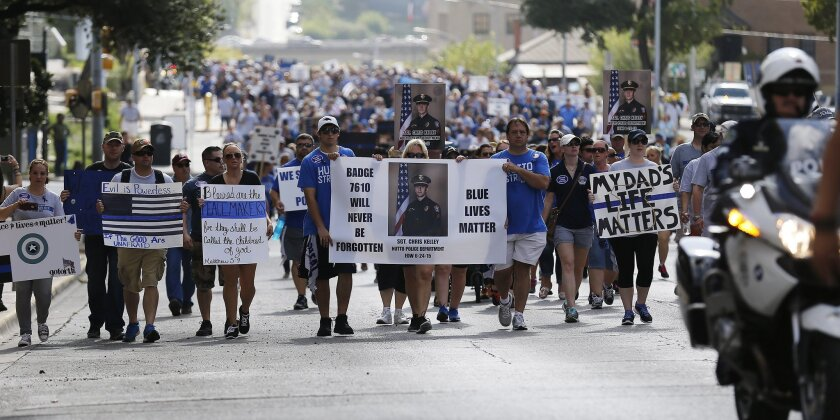 A Police Lives Matter rally in Austin, Texas, in September.