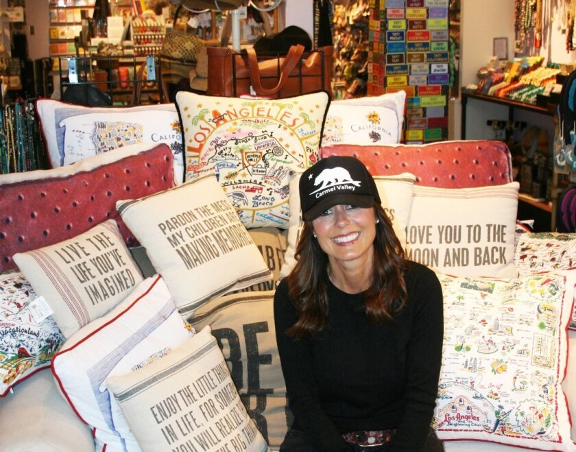 Owner Annie Glenn in her Del Mar Plaza Urban Girl store: 'It's going to be so beautiful, I'm really beside myself.'