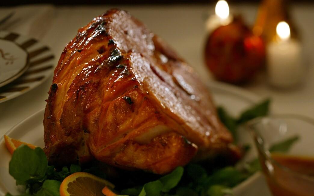 Chipotle- and orange-glazed ham