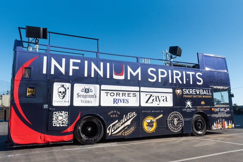 Wonderbus, sponsored by Infinium Spirits, will launch in San Diego on March 17, 2021.