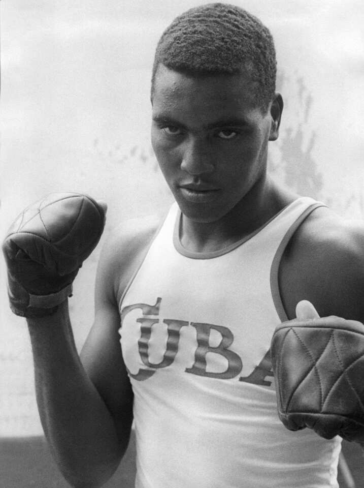 Cuba's Teofilo Stevenson, three-time Olympic boxing champion