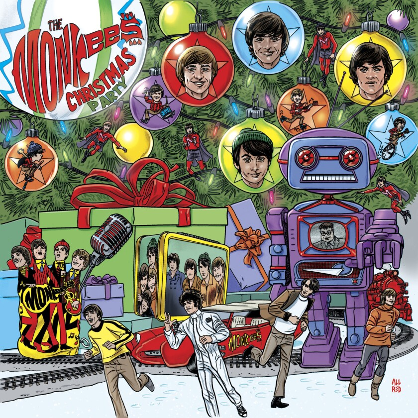 "This cover image released by Rhino Records shows ""Christmas Party"" by The Monkees. (Rhino Records vi"
