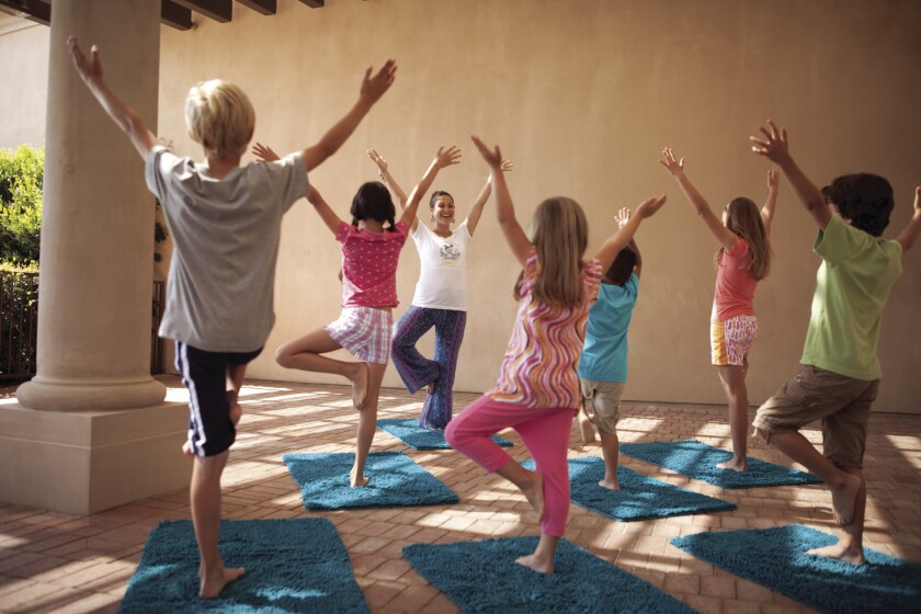 Children get storytime infused with yoga