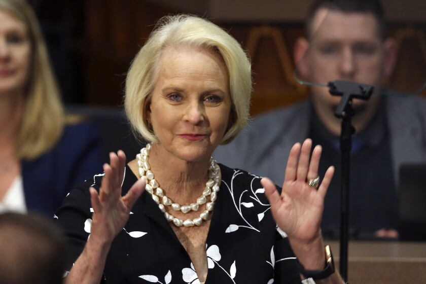 Cindy McCain, widow of Arizona Sen. John McCain.