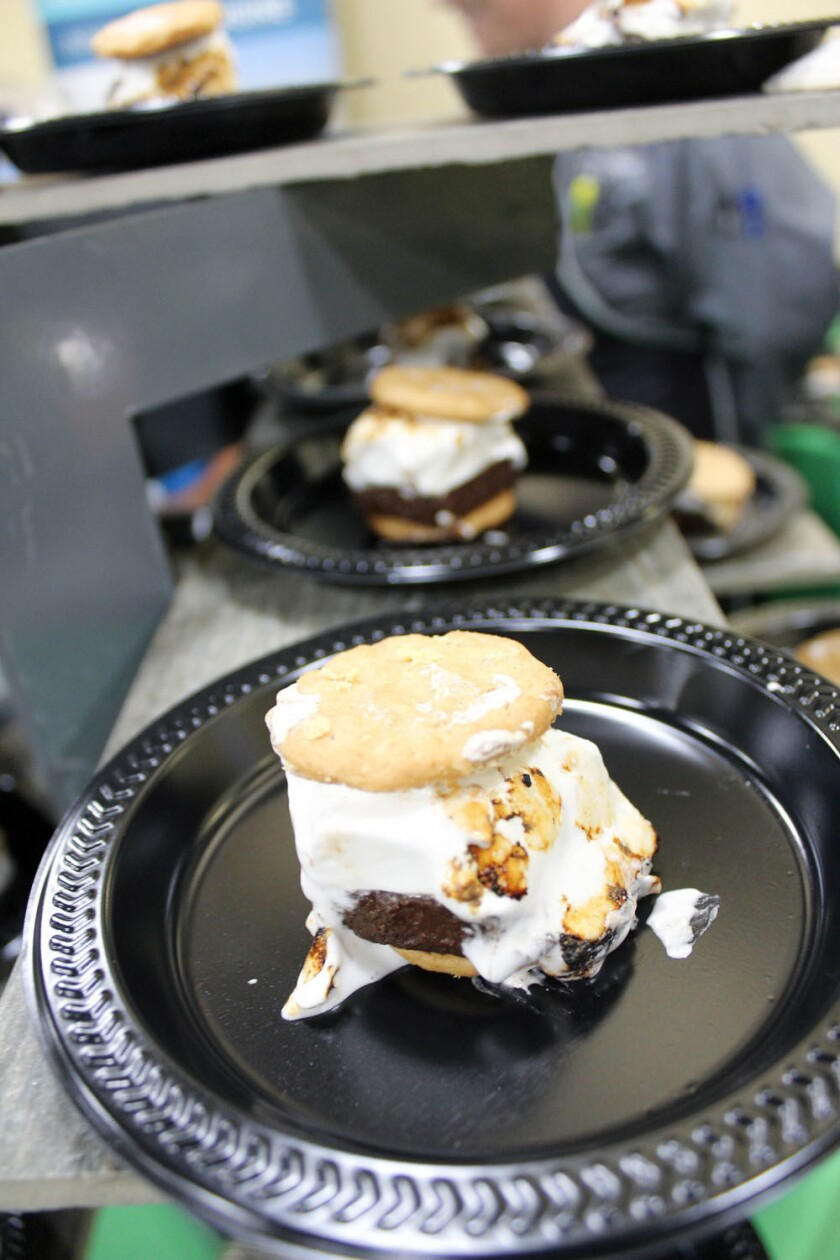 Do-si-dos peanut butter s'mores were on display during a San Diego Restaurant Week kickoff at Girl Scouts San Diego on Jan. 10. From Jan. 15-22 the dish will be available on the SDRW menu at SEA 180 Coastal Tavern in Imperial Beach. (Courtesy photo)