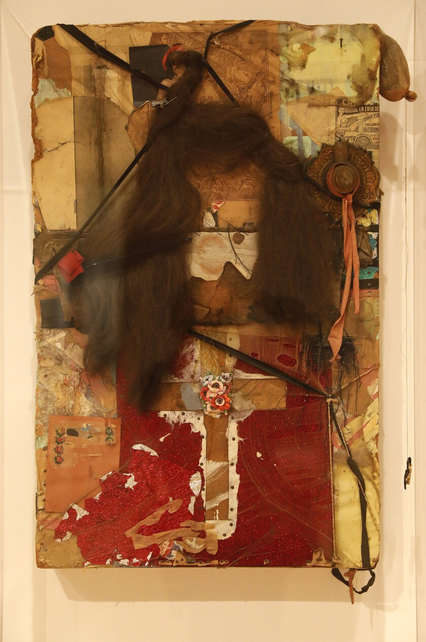 LOS ANGELES, CA - MAY 28, 2019 - Senorita, 1962, by artist Bruce Conner which is part of a MOCA exh