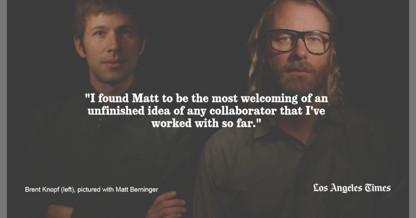 Brent Knopf and Matt Berninger