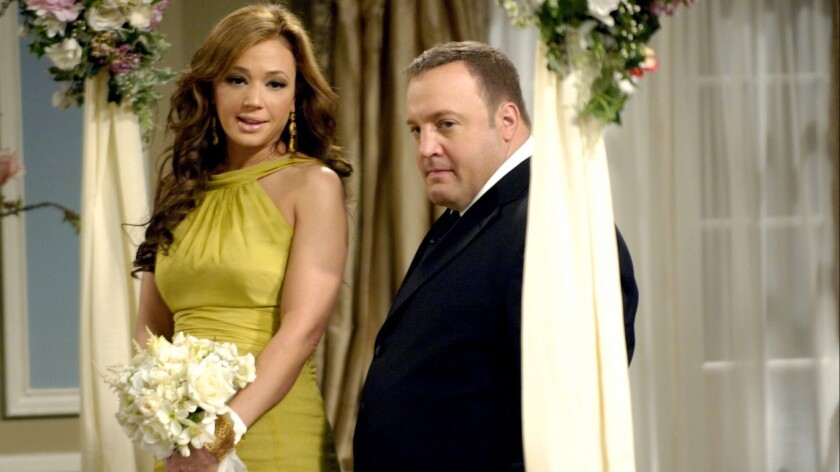 "THE KING OF QUEENS – CBS SERIES –""China Syndrome, Part 1 and Part 2"" –– Doug (Kevin James) and Carri"