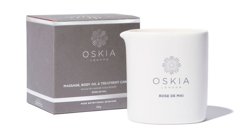 TOUCH: Oskia Rose de Mai Massage Candle, $60 at Goop.com is a scented candle that produces warm mass