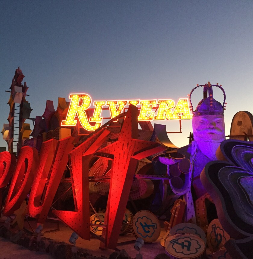 The Riviera sign now has a home in The Neon Museum's Neon Boneyard.
