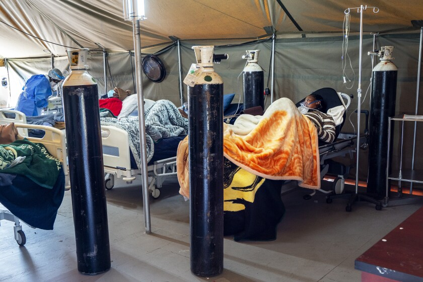 COVID-19 patients in Pretoria, South Africa