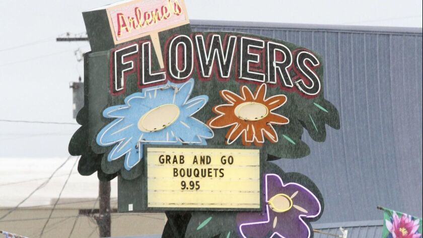 This March, 6, 2013 photo shows Arlene's Flowers on Lee Boulevard in Richland, Wash. The Washington