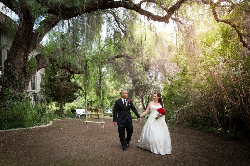 Romelle and Jamie were married at Green Gables Wedding Estate in San Marcos.