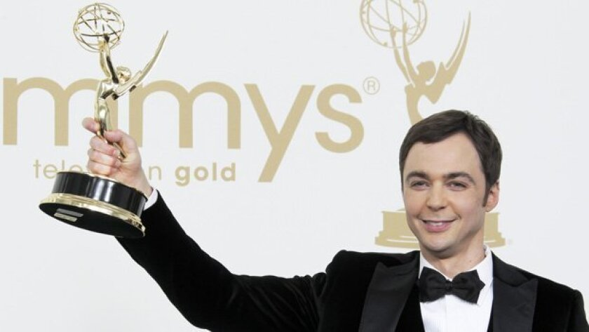 The Big Bang Theory actor Jim Parsons holds the Emmy for best actor in a comedy series.
