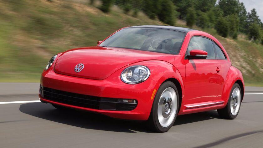 The 2012 Volkswagen Beetle. Credit: Volkswagen