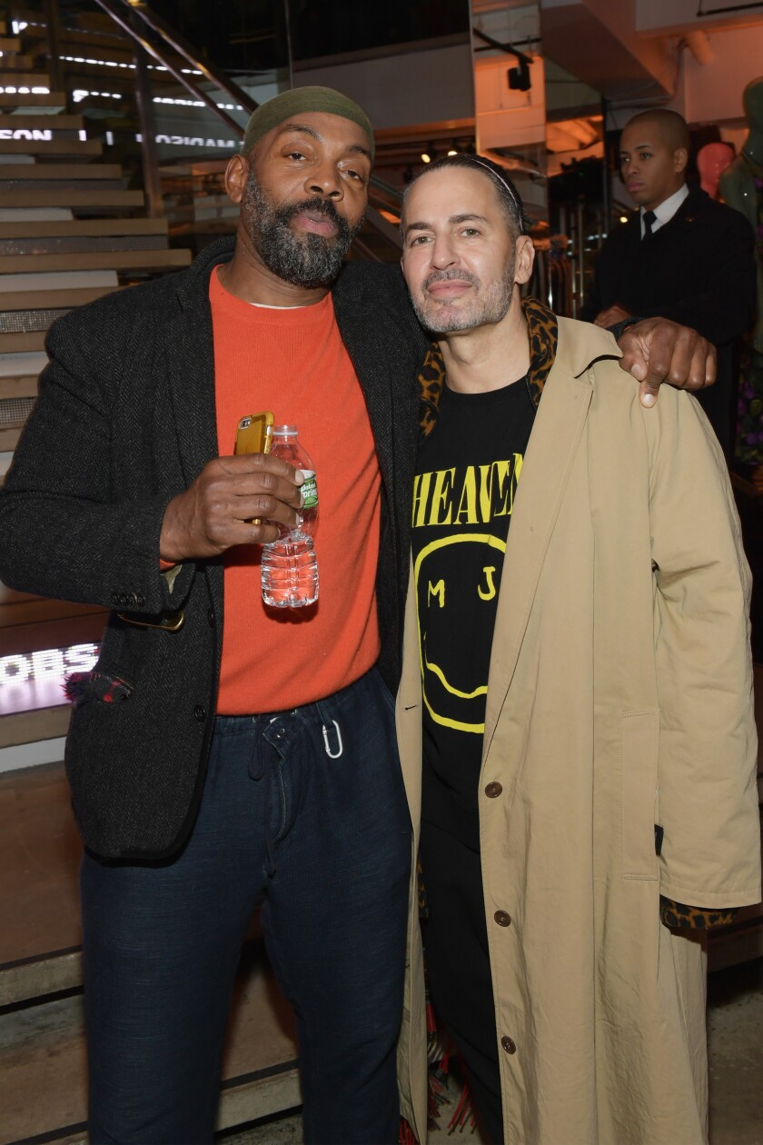 Andre Walker, left, and Marc Jacobs