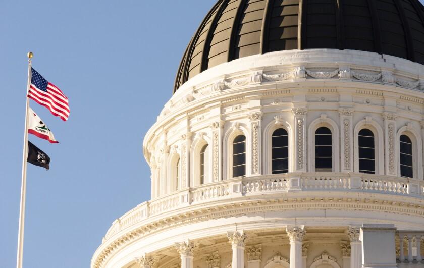 The California Capitol in Sacramento.