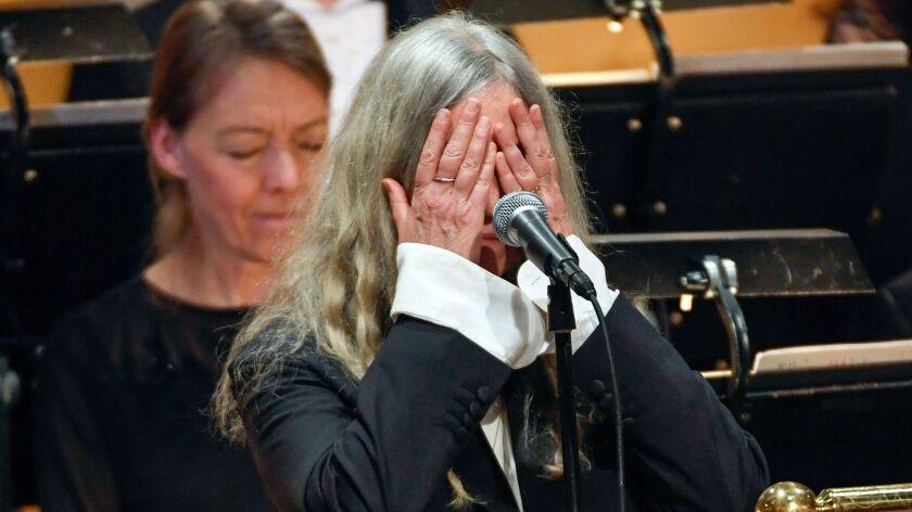 Patti Smith at the Nobel ceremony