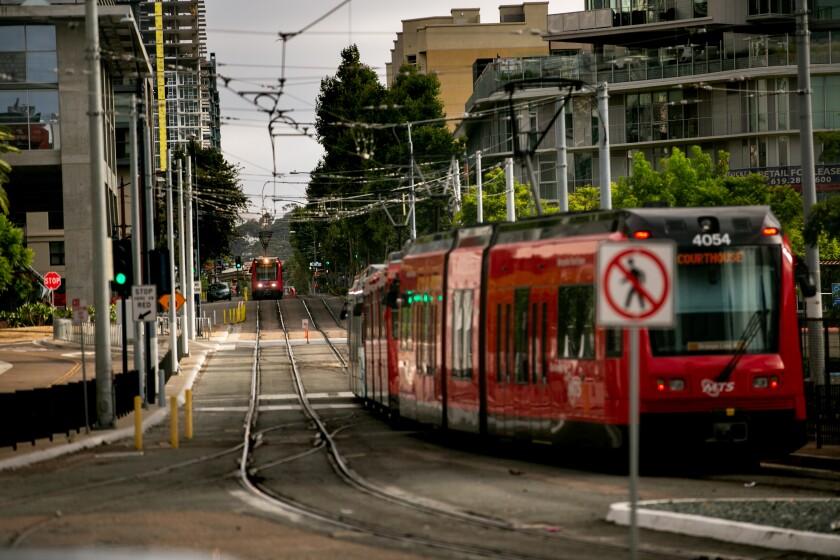 San Diego Metropolitan Transit System trolley cars