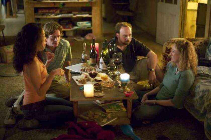 Sandra Oh, Thomas Haden Church, Virginia Madsen and Paul Giamatti in the movie 'Sideways'