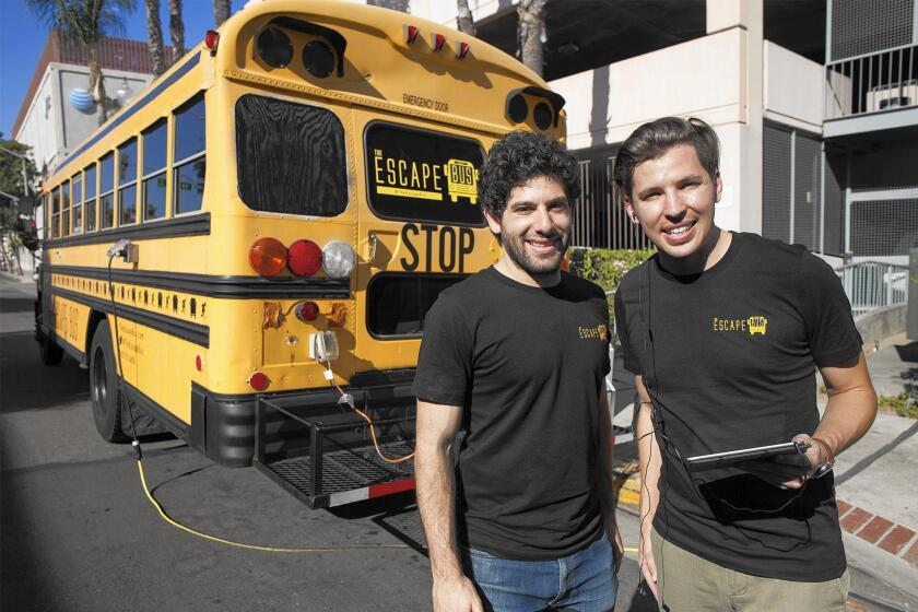 Escape Bus founders Jonathan Katz and Tyler Russell