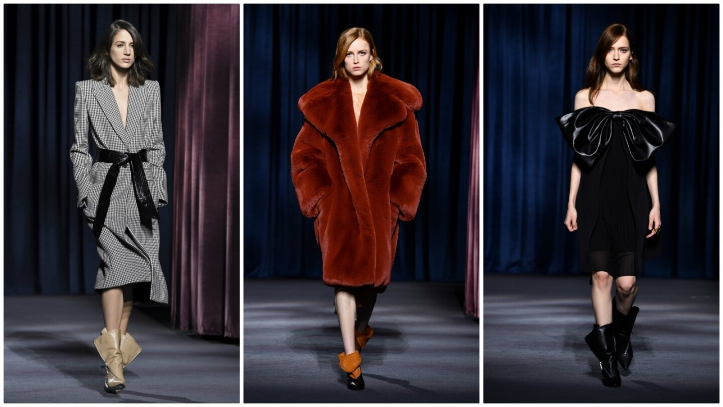 """Looks from the """"Night Noir"""" fall and winter 2018 runway collection, the second Givenchy ready-to-wear collection under Clare Waight Keller."""