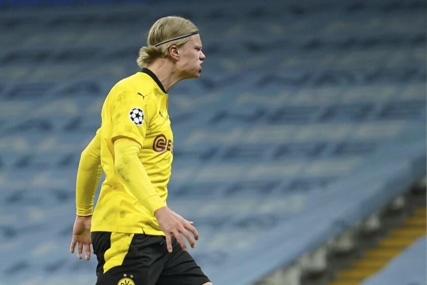 El delantero del Borussia Dortmund Erling Haaland