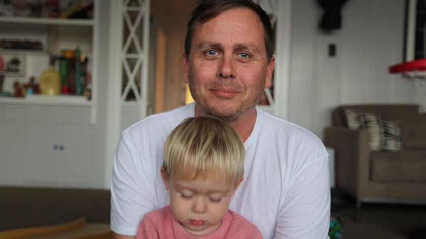 Artist Steven Hull with his 'doppelgänger' son Jarvis