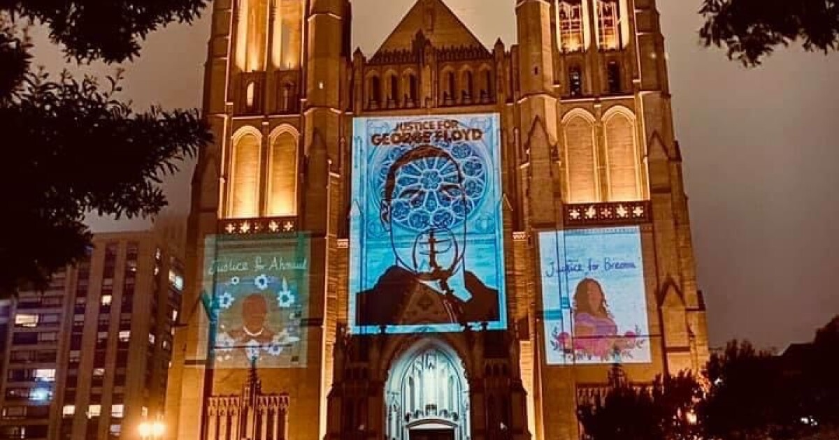 Despite complications and curfews, San Francisco's Grace Cathedral uses art to commemorate George Floyd
