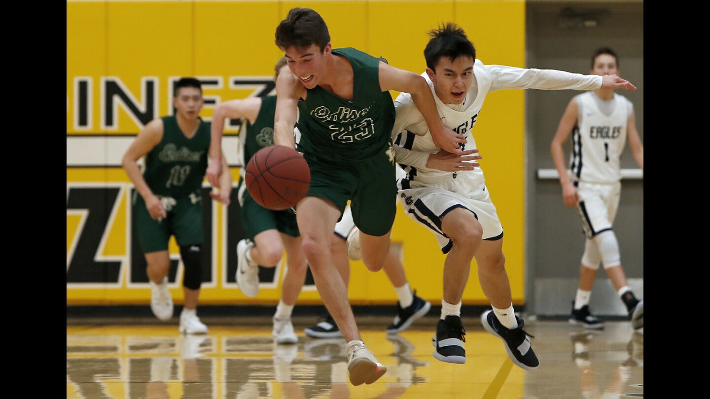 Photo Gallery: Edison vs. Calvary Chapel in boys' basketball