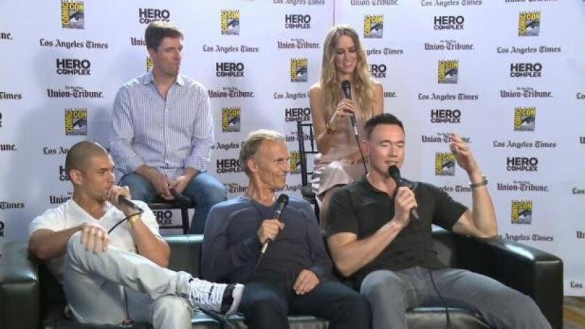 """Cast of FX show """"The Strain"""" sits down with the Los Angeles Times' Hero Complex"""